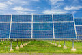 Power Plant Using Renewable Solar Energy With Blue Sky Royalty Free Stock Image - 44412436