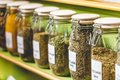 Glass Jars With Spices Stock Photography - 44415532