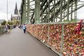 COLOGNE, GERMANY - AUGUST 26, 2014, Thousands Of Love Locks Which Sweethearts Lock To The Hohenzollern Bridge To Symbolize Their L Stock Photo - 44416510