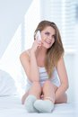 Young Woman Taking A Call On Her Mobile Phone Royalty Free Stock Images - 44417539