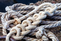 Rope Knotted On A Shore Royalty Free Stock Image - 44421616