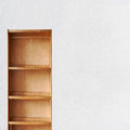 Empty Old Retro Wooden Book Shelf Royalty Free Stock Images - 44426059