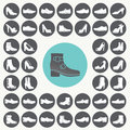 Shoes Icons Set. Royalty Free Stock Photo - 44438815