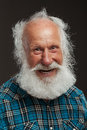 Old Man With A Long Beard Wiith Big Smile Royalty Free Stock Photo - 44441135