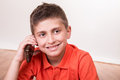 Kid Calling With Smartphone Stock Photo - 44442160
