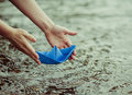Paper Boat Stock Photography - 44458072