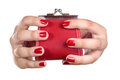 The Hands Of A Young Woman With A Coin Purse Stock Image - 44461651