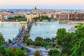 Chain Bridge, Budapest Stock Photo - 44463630