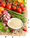 Raw Organic Quinoa And Vegetables Stock Photo - 44466660