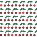 Seamless Pattern With Ripe Cherries. Summer Cherry Stock Photos - 44467033