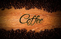Roasted Coffee Beans Closeup With Title Stock Images - 44468754