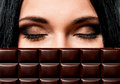 Woman With Chocolate Royalty Free Stock Photo - 44470305