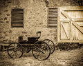Carriage By The Barn Royalty Free Stock Image - 44474856