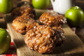 Homemade Glazed Apple Fritters Stock Photography - 44475452