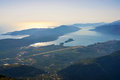 Tivat Airport And Town And Adriatic Sea Royalty Free Stock Photos - 44490638