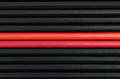 Red Color In Black Pencils Royalty Free Stock Images - 44495329