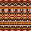 Knitted Seamless Pattern In Fair Isle Style Royalty Free Stock Images - 44496539