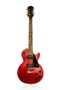 Beautiful Black And Red Sunburst Electric Guitar Royalty Free Stock Images - 44503029