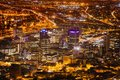 Night View Of City Bowl And Business District Of Cape Town Stock Photo - 44505700