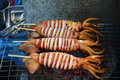 Grilled Squid Royalty Free Stock Photo - 44516165