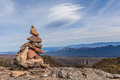 Stone Cairn On Top Of Mount William, Grampians Royalty Free Stock Photo - 44519115