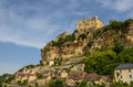 Beynac-et-Cazenac Old Castle And City On A Cliff Royalty Free Stock Photo - 44526945