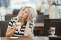 Beauty Girl With Cup Of Coffee Royalty Free Stock Photo - 44527665