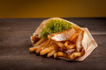 Fish And Chips Stock Photo - 44527850