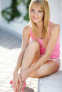Young Smiling Woman Outdoors Portrait. Royalty Free Stock Image - 44529006