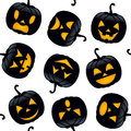 Halloween Black Pumpkins Seamless Royalty Free Stock Images - 44529599