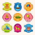 Toys Labels Sketch Royalty Free Stock Image - 44536566