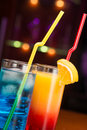 Two Exotic Cocktails Stock Images - 44538844