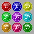 Magnifier Glass Sign Icon. Zoom Tool Button. Royalty Free Stock Photo - 44543505
