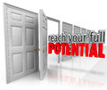 Reach Your Full Potential 3d Words Open Door Opportunity Royalty Free Stock Images - 44546659
