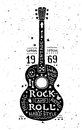 Illustration Of Vintage Grunge Label With Guitar Royalty Free Stock Photos - 44555478