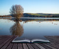 Book Concept Mirror Reflections Of Landscape In Flood Plains In Royalty Free Stock Image - 44562006