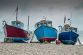 Fishing Boats On Beer Beach, Dorset, England Royalty Free Stock Images - 44562419