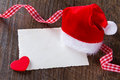 Father Christmas Hat Card Heart Stock Photo - 44562840