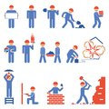 Various Building And Demolition Character Icons Stock Photography - 44573302