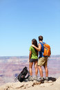 Hikers In Grand Canyon - Hiking Couple Stock Photos - 44580333