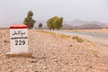 Road Sign On The Road To Marrakesh In Morocco Stock Images - 44583684
