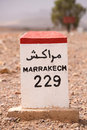 Road Sign On The Road To Marrakesh In Morocco Stock Image - 44584621