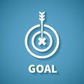 Vector Concept Of Goal Or Target Achievement With Dart Arrow Royalty Free Stock Photo - 44588415