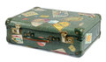 Well Travelled Old Vintage Suitcase Stock Photography - 44591522