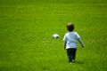 Boy Playing With A Ball Royalty Free Stock Photos - 44592408