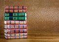 Pile Of Old Books On Beautiful Wooden Table Royalty Free Stock Photo - 44595015