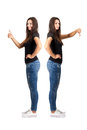 Thumbs Up And Thumbs Down Contrast Stock Photos - 44596073