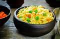 Indian Vegetarian Pilaf, Biriyani, With Carrots And Green Peas Stock Images - 44598104