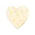 Heart Shaped Flour Tortilla Royalty Free Stock Images - 44604619