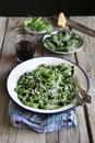 Homemade Fresh Spinach Pasta Stock Image - 44605701